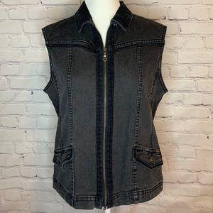 CHRISTOPHER & BANKS Stretch zip up vest